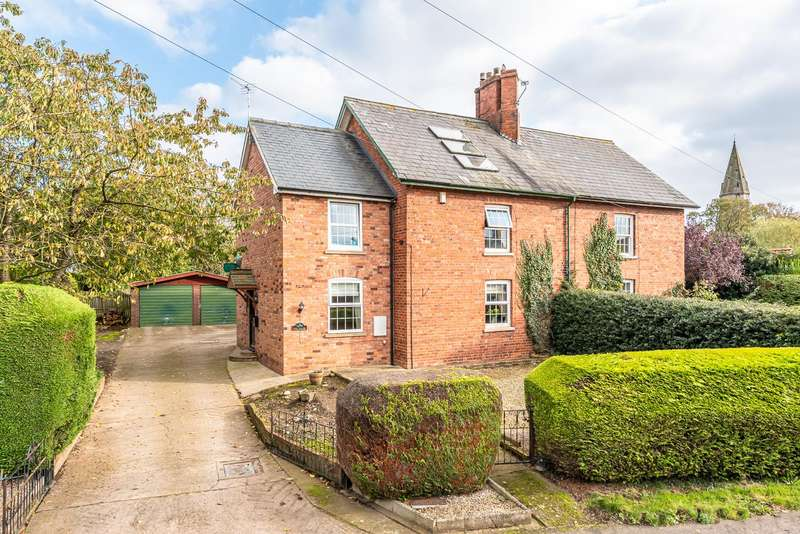 4 Bedrooms Semi Detached House for sale in Fern Cottage, East Heslerton, Malton, YO17 8RN