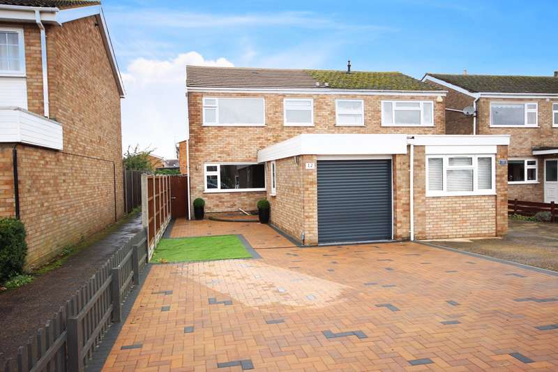 3 Bedrooms Semi Detached House for sale in Whitworth Way, Wilstead, Bedfordshire, MK45