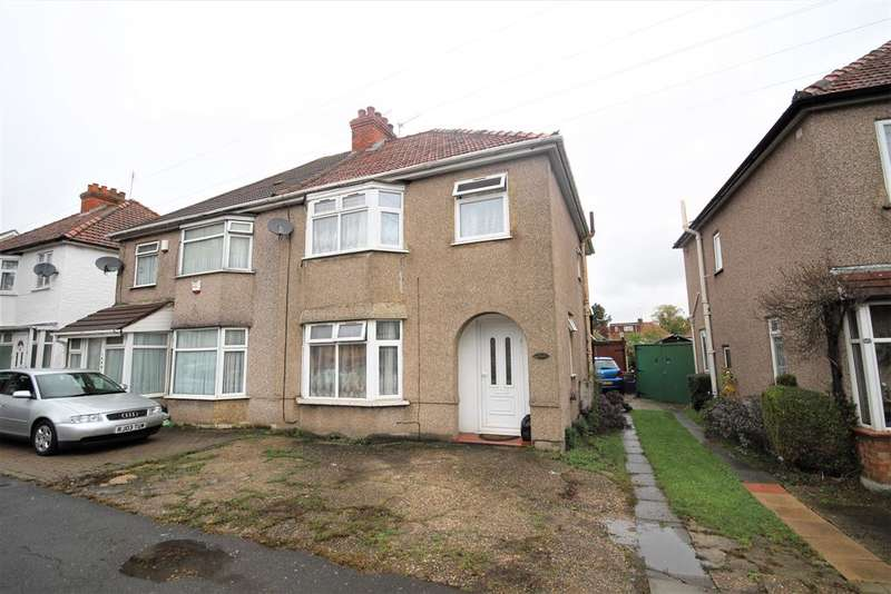 3 Bedrooms Semi Detached House for sale in North Hyde Road, Hayes, Middlesex, UB3 4NQ