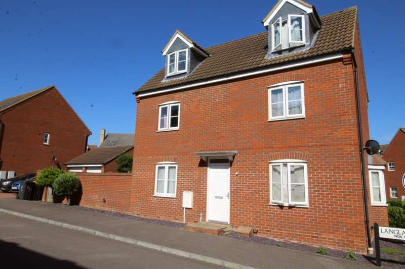 4 Bedrooms End Of Terrace House for sale in Langlands Road, Bedford, Bedfordshire, MK41