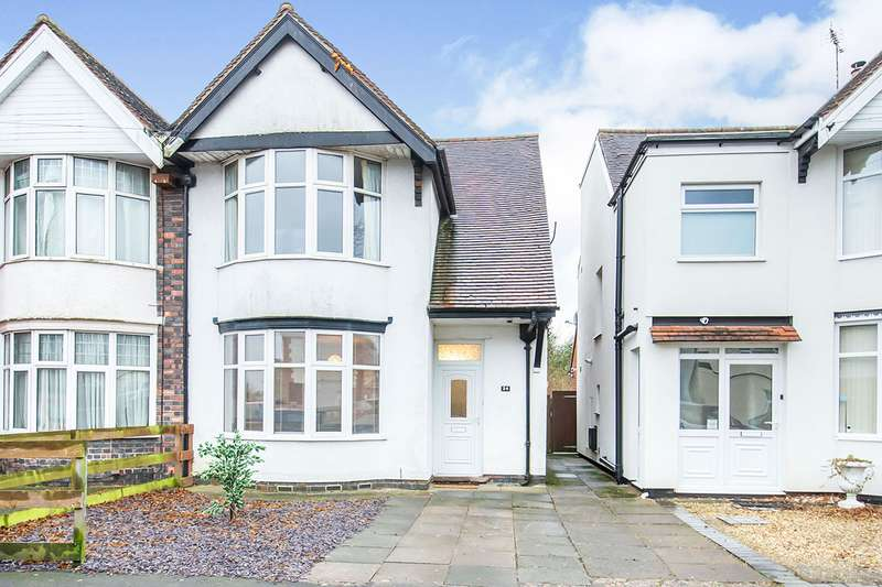 3 Bedrooms Semi Detached House for sale in Merevale Avenue, Hinckley, Leicestershire, LE10
