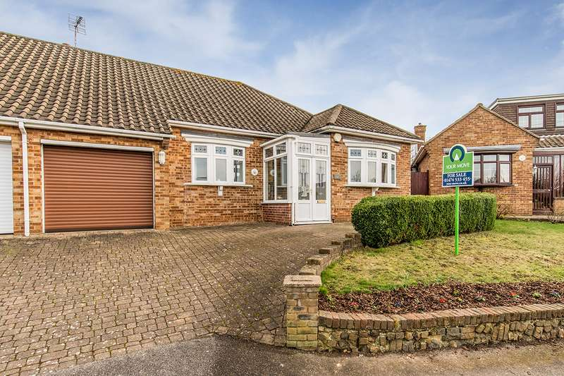 2 Bedrooms Semi Detached Bungalow for sale in The Rise, Gravesend, Kent, DA12