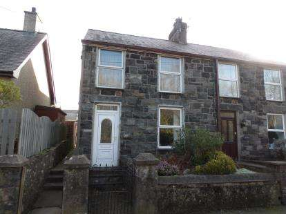 3 Bedrooms Semi Detached House for sale in Groeslon, Caernarfon, Gwynedd, LL54