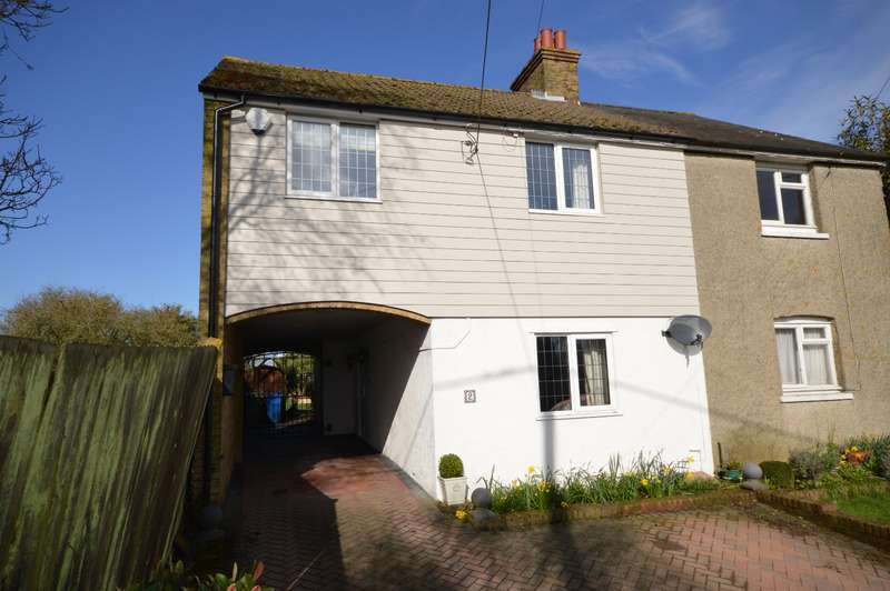 3 Bedrooms Semi Detached House for sale in Wilgate Cottages, Ashford Road, Faversham, Kent, ME13