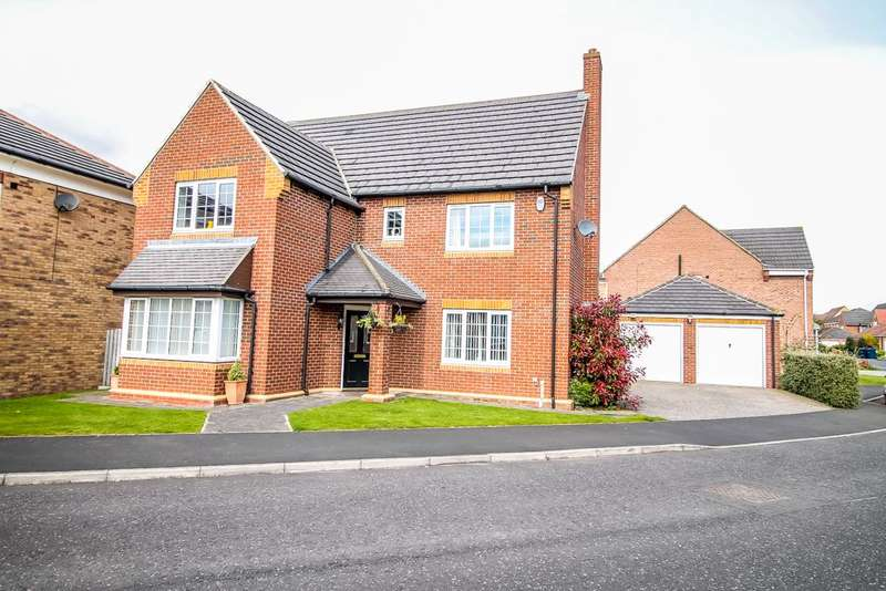 4 Bedrooms Detached House for sale in Weymouth Drive, Biddick Woods, Houghton le Spring, Tyne and Wear, DH4