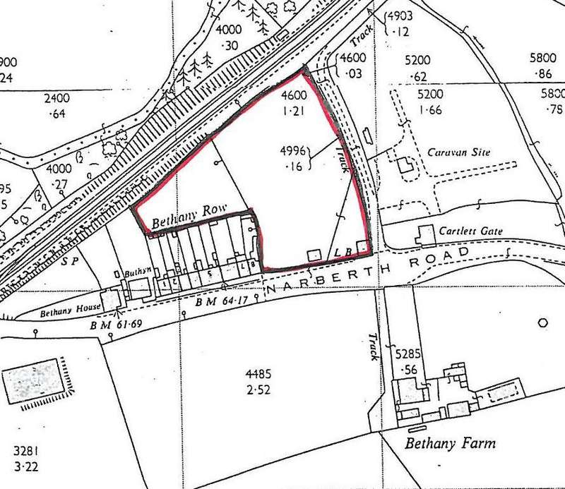 Land Commercial for sale in Lane at Narberth Road, Haverfordwest