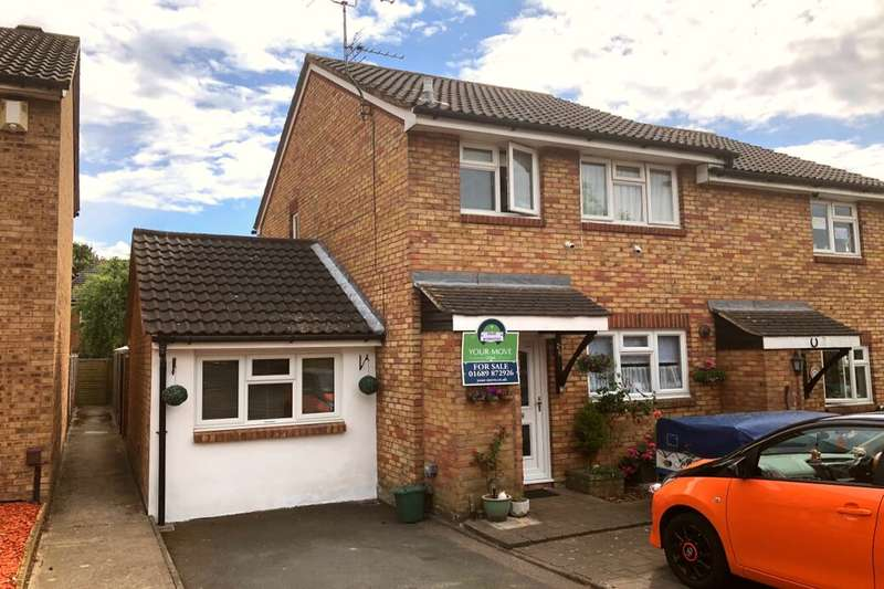 4 Bedrooms Semi Detached House for sale in Doveney Close, Orpington, BR5