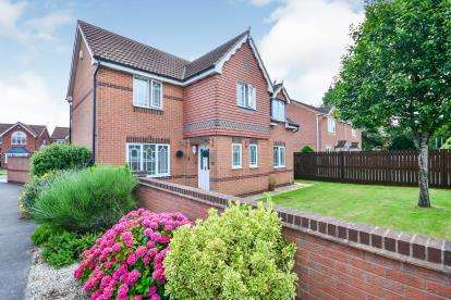 4 Bedrooms Detached House for sale in Rowsley Court, Sutton-In-Ashfield, Nottinghamshire, Notts