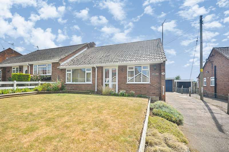 2 Bedrooms Semi Detached Bungalow for sale in Shalmsford Street, Chartham, Canterbury, Kent, CT4