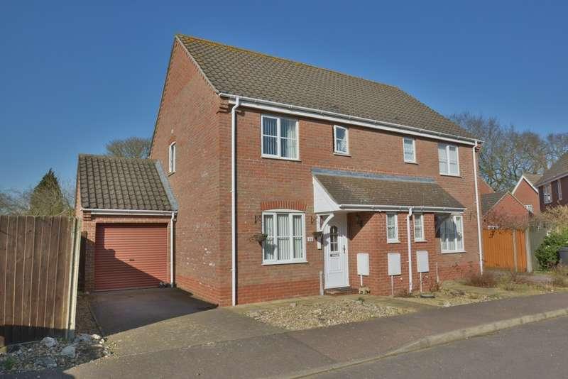 3 Bedrooms Semi Detached House for sale in Cranes Meadow, Harleston