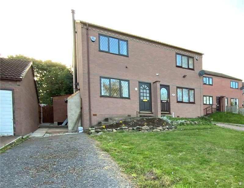 2 Bedrooms Semi Detached House for sale in Dale View, Stretton, Alfreton, Derbyshire, DE55