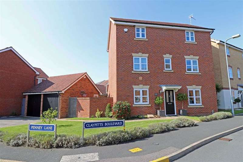 4 Bedrooms Detached House for sale in Claypitts Boulevard, Chase Meadow, Warwick, CV34