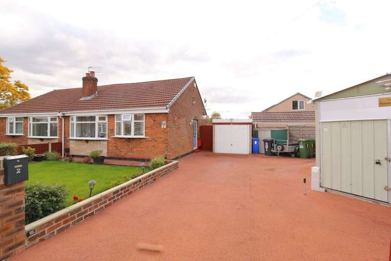 2 Bedrooms Semi Detached Bungalow for sale in Haweswater Close, Denton, Manchester, M34