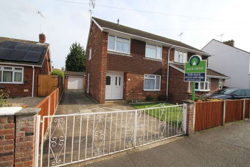 3 Bedrooms Semi Detached House for sale in Curtis Road, Willesborough, Ashford, TN24
