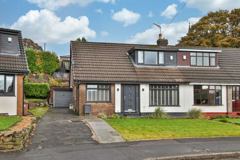 3 Bedrooms Semi Detached House for sale in Alpine Drive, Wardle, OL12 9NY