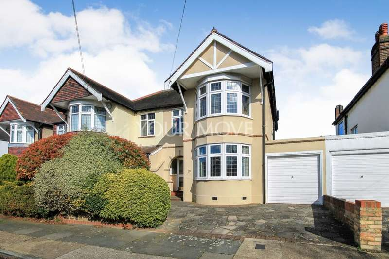 3 Bedrooms Semi Detached House for sale in Ashmour Gardens, Romford, RM1