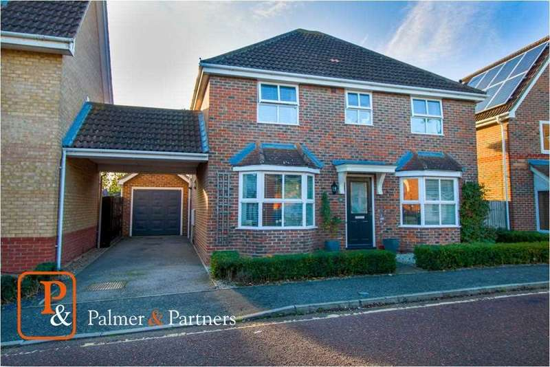 4 Bedrooms Detached House for sale in Braithwaite Drive, Turner Rise, Colchester CO4