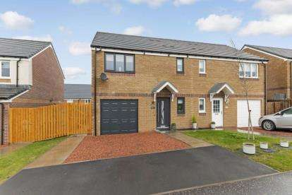 3 Bedrooms Semi Detached House for sale in Queen Mary Drive, Larkhall, South Lanarkshire