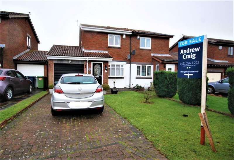 2 Bedrooms Semi Detached House for sale in Cinderford Close, Boldon Colliery