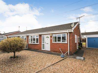 2 Bedrooms Semi Detached Bungalow for sale in Ffordd Ffynnon, Hawarden