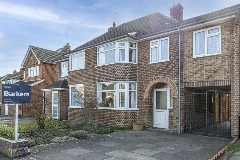4 Bedrooms Semi Detached House for sale in Ruskington Drive, Wigston