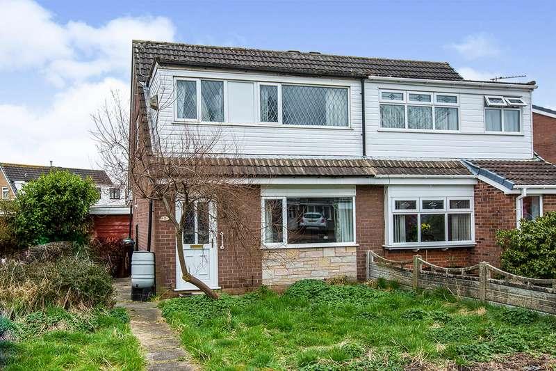 3 Bedrooms Semi Detached House for sale in Dunster Close, Platt Bridge, Wigan, Greater Manchester, WN2