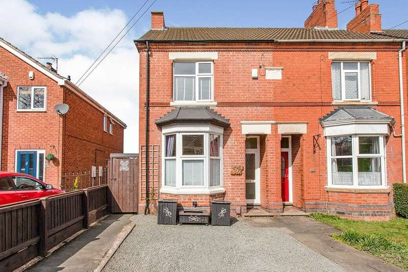 3 Bedrooms Semi Detached House for sale in Meadow Lane, Coalville, LE67