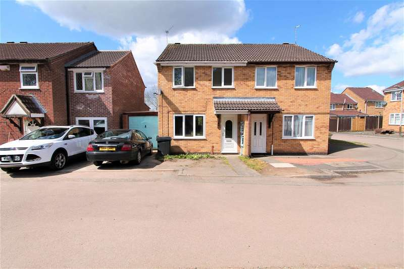 3 Bedrooms Semi Detached House for sale in Ellwood Close, Evington, Leicester LE5