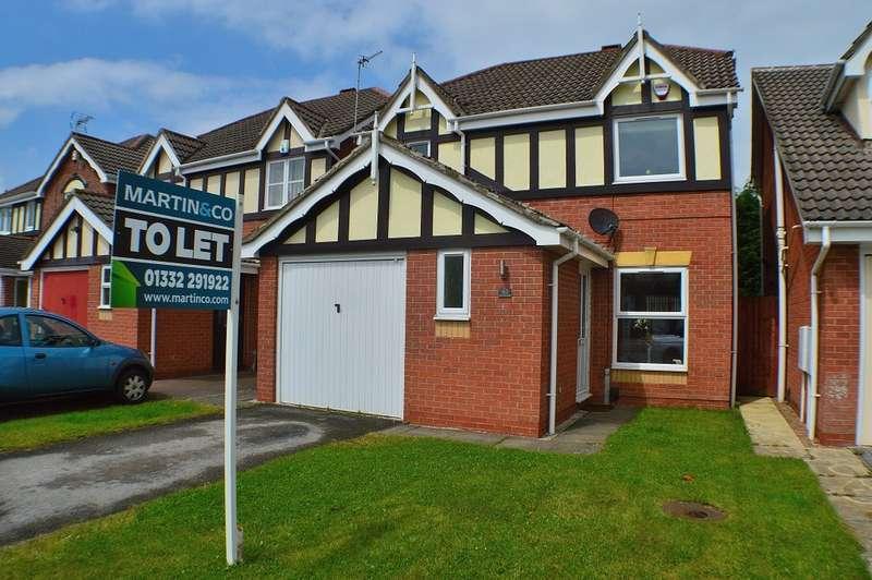 3 Bedrooms Property for rent in Sevenlands Drive, Boulton Moor DE24