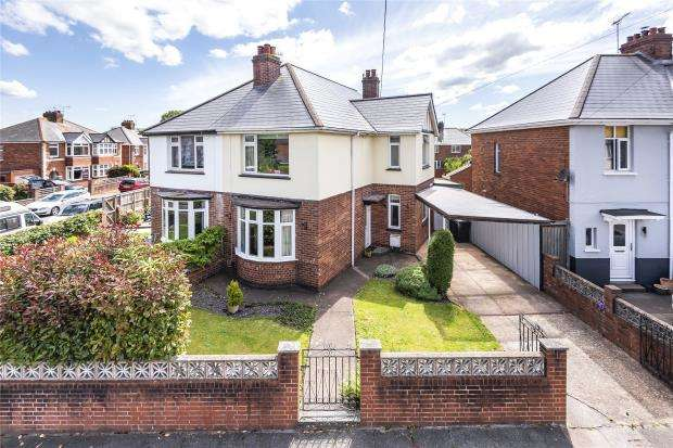 3 Bedrooms Semi Detached House for sale in Coverdale Road, Exeter, Devon