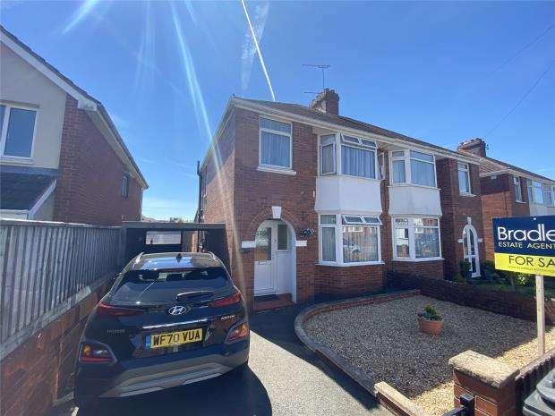 3 Bedrooms Semi Detached House for sale in Summerway, Exeter, Devon