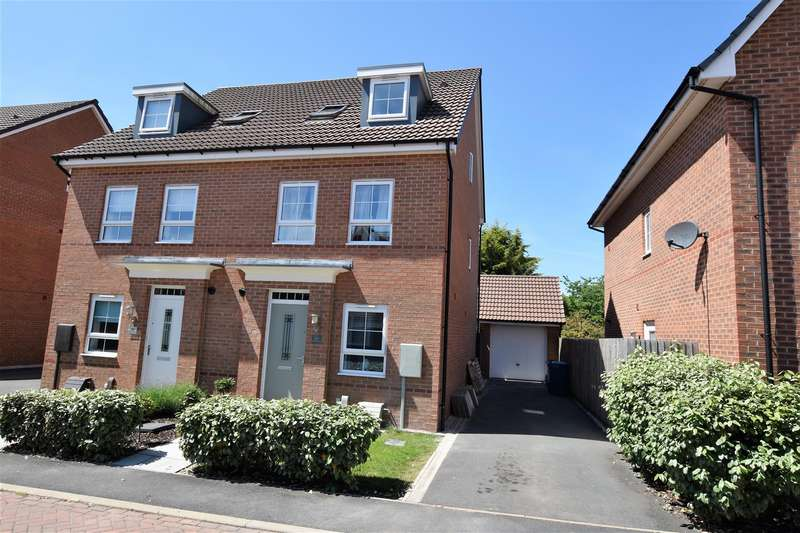 3 Bedrooms Semi Detached House for sale in Sand Martin Close, East Leake, Loughborough