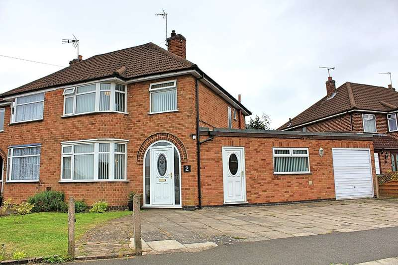 3 Bedrooms Semi Detached House for sale in Warmsley Avenue, Wigston