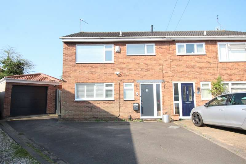 3 Bedrooms Semi Detached House for sale in Ferness Close, Hinckley, Leicestershire, LE10