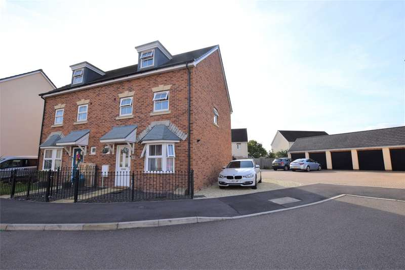 4 Bedrooms Semi Detached House for sale in St. Mawgan Street Kingsway, Quedgeley, Gloucester, GL2