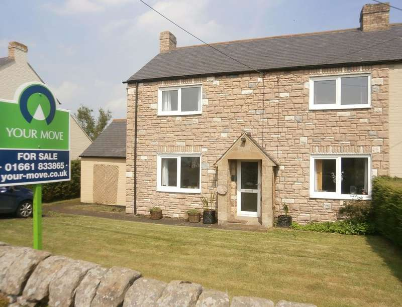 3 Bedrooms Semi Detached House for sale in Hillcrest, Slaley, Hexham, NE47
