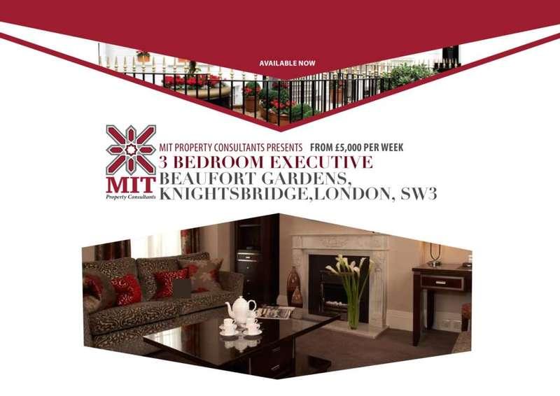 3 Bedrooms Apartment Flat for rent in Beaufort Gardens, Knightsbridge