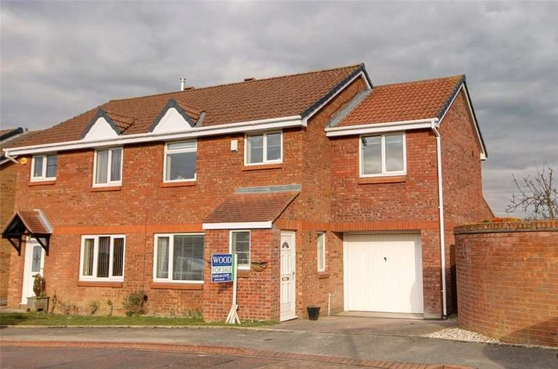 4 Bedrooms Semi Detached House for sale in Easby Close, Bishop Auckland, County Durham, DL14