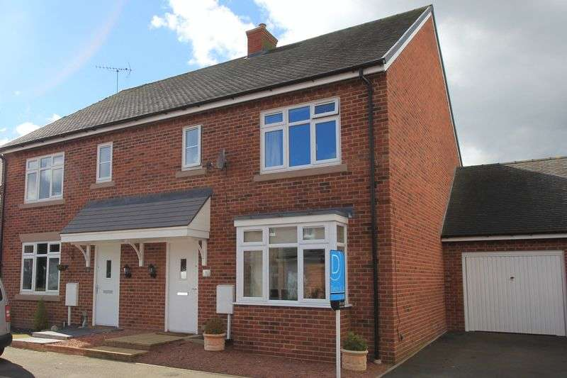 3 Bedrooms Semi Detached House for sale in Castlemill Close, Weston, Stafford.