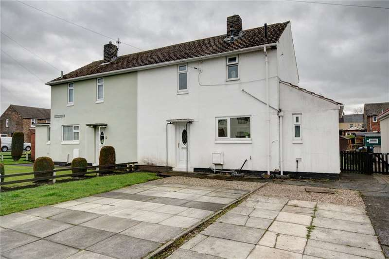 2 Bedrooms Semi Detached House for sale in Crawford Close, Sherburn Village, Durham, DH6