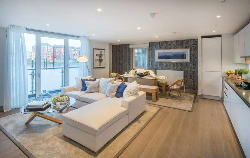 3 Bedrooms Flat for sale in Ivory House West, Plantation Wharf, SW11