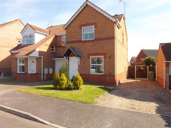 2 Bedrooms Semi Detached House for sale in Cavendish Close, Creswell, Worksop