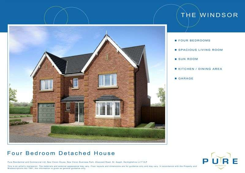 4 Bedrooms Detached House for sale in Plot 22, Llys Chatsworth