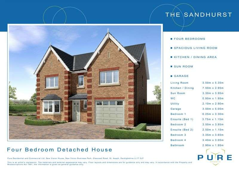 4 Bedrooms Detached House for sale in Plot 19, Llys Chatsworth
