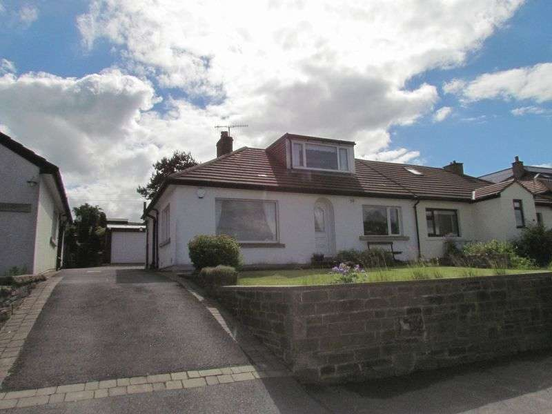 3 Bedrooms Semi Detached Bungalow for sale in Moor View Drive, Lee Lane, Wilsden