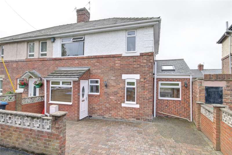 3 Bedrooms Semi Detached House for sale in Flass Avenue, Ushaw Moor, Durham, DH7