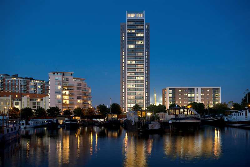 2 Bedrooms Flat for sale in Horizons Tower, Yabsley Street, Canary Wharf, London, E14