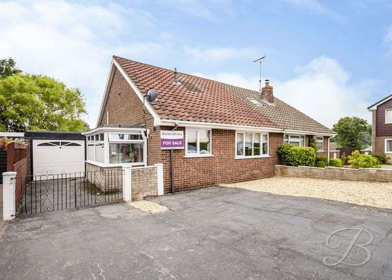2 Bedrooms Semi Detached Bungalow for sale in Meden Glen, Church Warsop