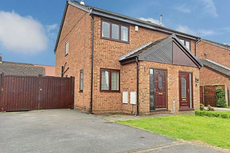 2 Bedrooms Semi Detached House for sale in King Charles Close, Willerby