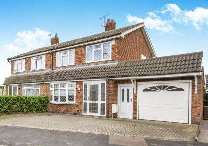 3 Bedrooms Semi Detached House for sale in Montague Avenue, Syston, Leicester, Leicestershire